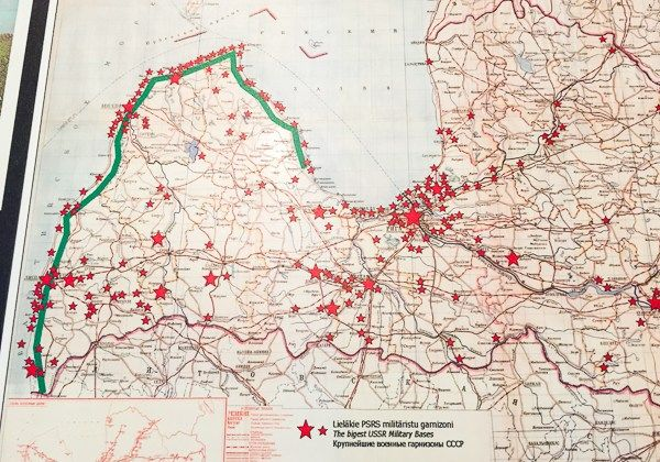 Things to do in Riga-map of former Soviet Union