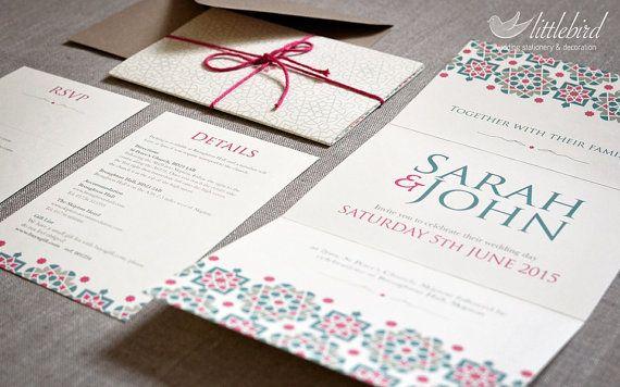 Littlebird  Pink and teal moroccan style by Littlebirdweddings