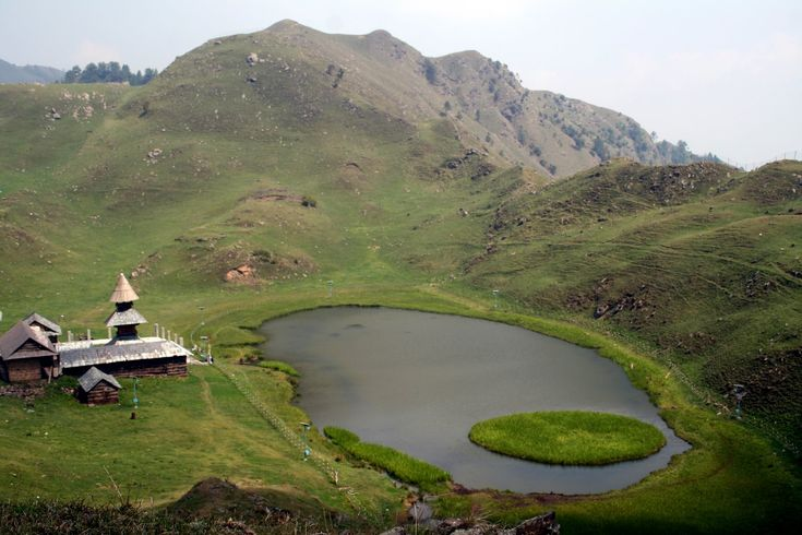 Prashar Lake lies 49 km north of Mandi, Himachal Pradesh, India, with a three storied pagoda-like temple dedicated to the sage Prashar. The lake is located at a height of 2730 m above sea level. With deep blue waters, the lake is held sacred to the sage Prashar and he is regarded to have meditated there. Surrounded by snow-capped peaks and looking down on the fast flowing river Beas, the lake can be approached via Drang.