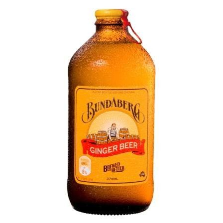 Imported from Australia, Bundaberg's unique bottle is very distinctive. It's always cloudy in a bottle of good, old fashioned ginger beer. Hold the bottle up to the light and you'll see it's full of r