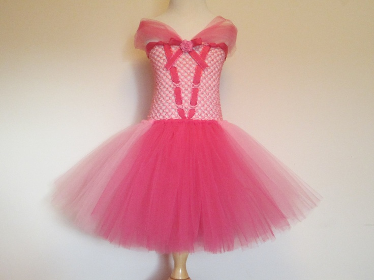 Tutu Dress Sleeping Beauty inspired Baby Girls Toddler Halloween Costume Pink Princess Aurora by American Blossoms. $49.00, via Etsy.