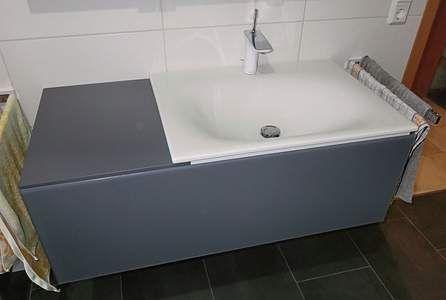 Keuco Edition 11 Waschtischunterbau mit Auszug und Ablage 105cm, Anthrazit-Glas klar; 31154110000 - Bernd Block   Haustechnik