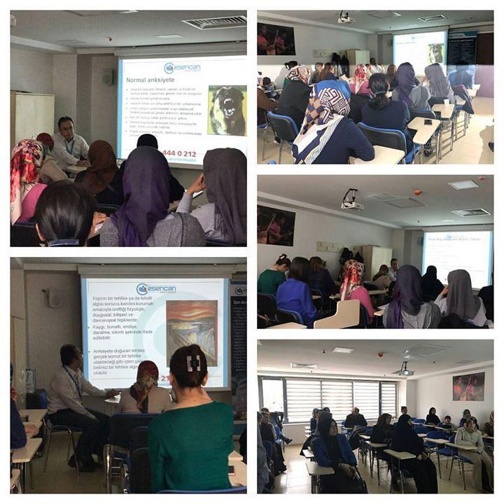"""Esenyurt Belediyesi işbirliği ile Güzelyurt Kültür Merkezi'nde düzenlenen psikiyatri uzmanımız Uzm. Dr. Murat ASLAN'ın konuşmacı olarak katıldığı """"Yetişkinlere Yönelik Panik Atak"""" konulu seminerden görüntüler..."""