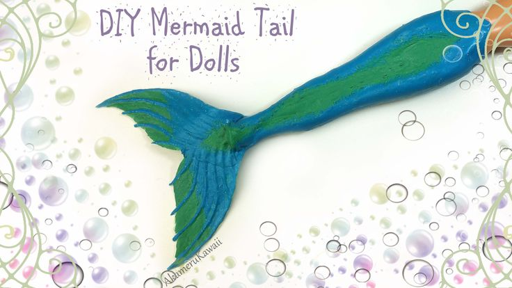 DIY Doll Mermaid Tail - Published on Jun 14, 2016 Hi guys! Today we're making this sparkly, flexible Mermaid tail for dolls :D I made this with liquid latex from a craft store, and the process is really easy. So if you wanna know how to make a mermaid tail for any of your dolls, then keep watching ;)