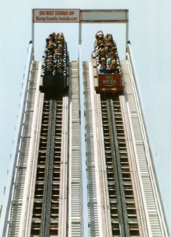 When The Racer was good, forward and backward - Kings Island