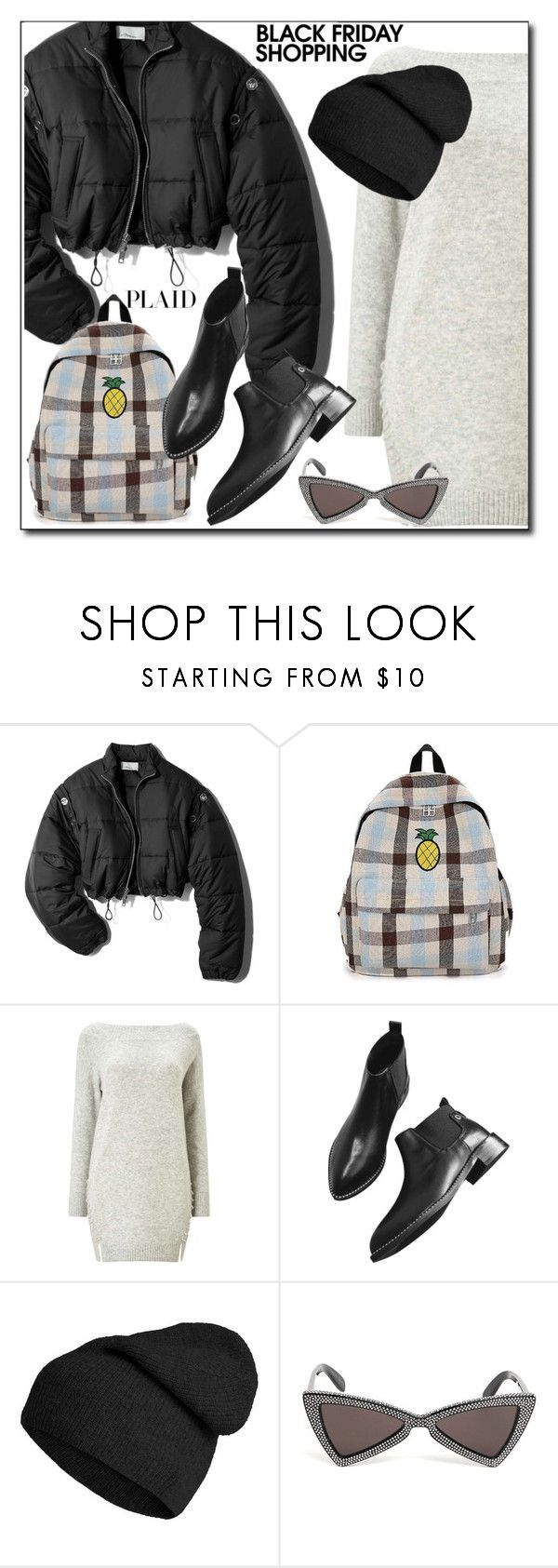 """Plaid Bag"" by dee-dee-01 ❤ liked on Polyvore featuring 3.1 Phillip Lim, Miss Selfridge and Yves Saint Laurent"