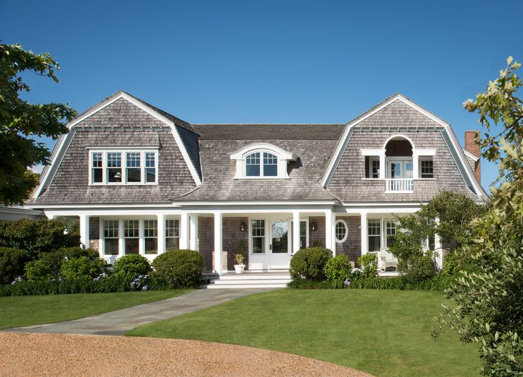 gorgeous home exterior. beautiful roof lines. classic new england shingled exterior. Donald Lococo Architects | Classic | New England Shingle House