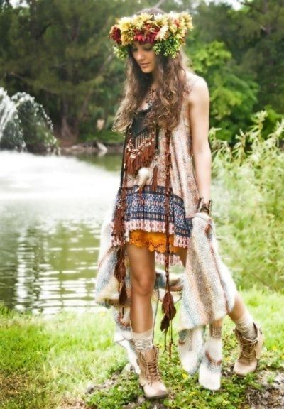 Boho Look | Bohemian boho style hippie chic bohème vibe gypsy fashion indie folk the 70s festival style | Free spirit