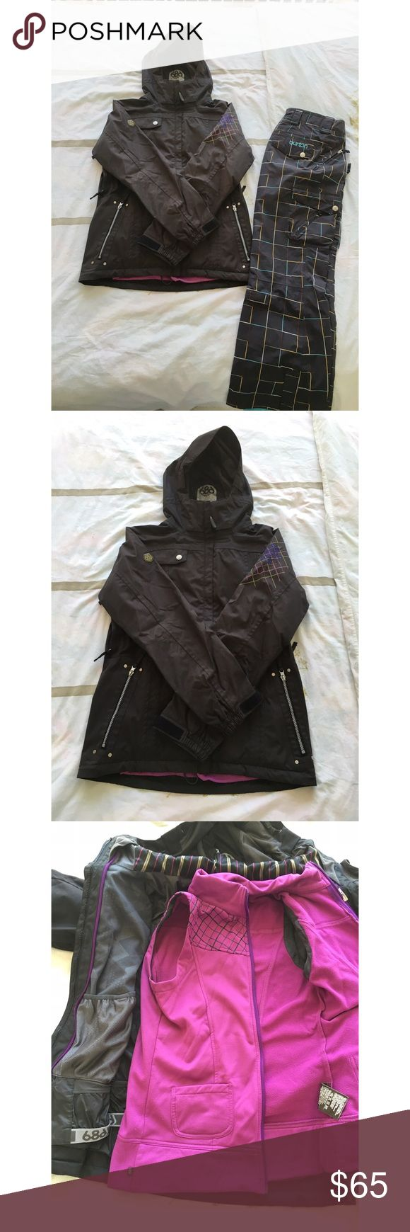 686 snowboard jacket Women's 686 snowboard jacket! Removable inner vest. Size M. Worn for 2 seasons! Great condition! 686 Jackets & Coats Puffers