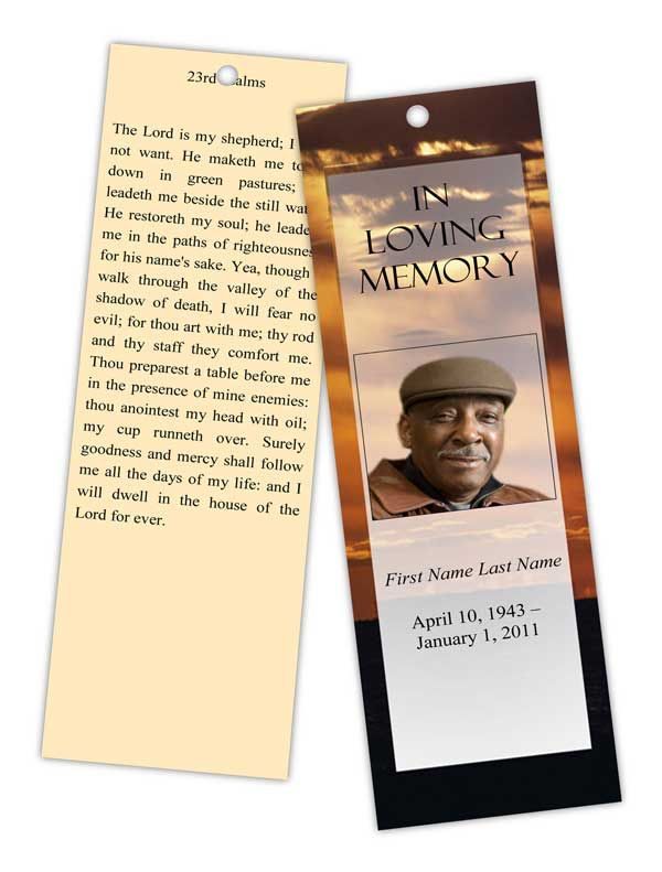 8 best Top Memorial Bookmark Template Designs images on Pinterest - blank bookmark template