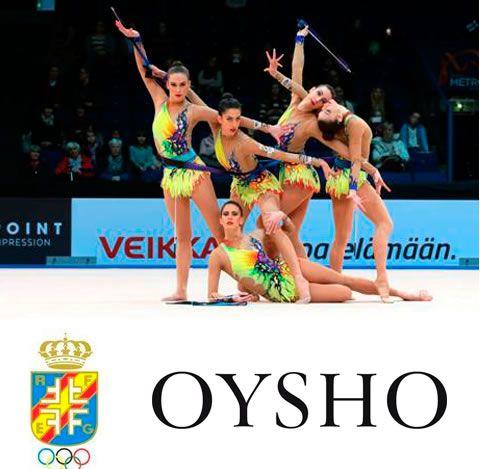 Dans l'année des Jeux Olympiques à Rio de Janeiro 2016, Oysho a signé un accord de collaboration pour porter l'équipe nationale de gymnastique rythmique