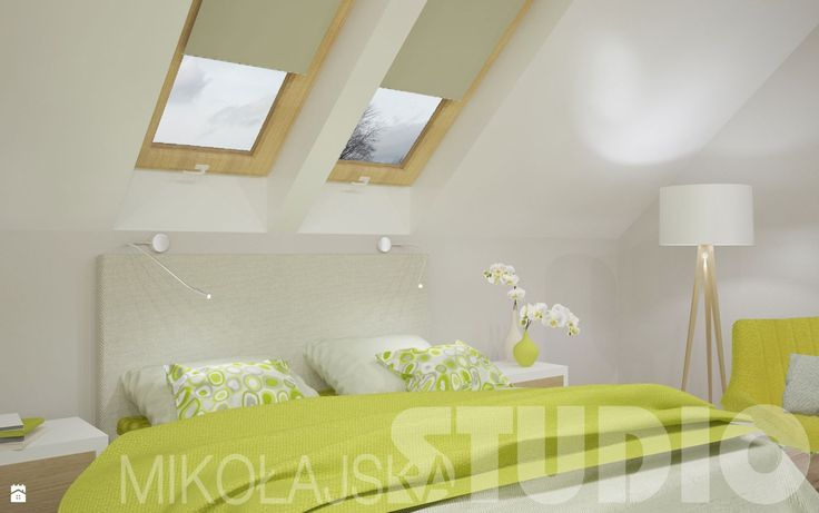sypialnia w kolorze limonki - zdjęcie od MIKOŁAJSKAstudio - Sypialnia - Styl Skandynawski - MIKOŁAJSKAstudio