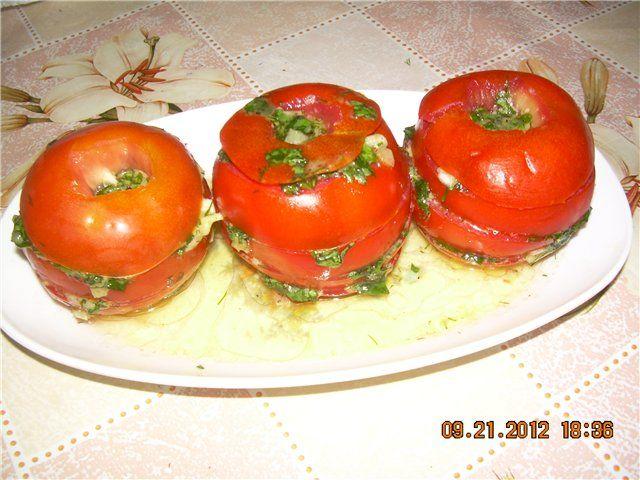 Ароматные пикантные помидорки на закуску(за полчаса) : Закуски и бутерброды
