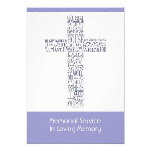 38 best Religious Funeral Announcement images on Pinterest - invitation for funeral