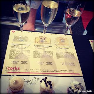Champagne and cupcake tasting, on the Urban Wine Trail @ Santa Barbara