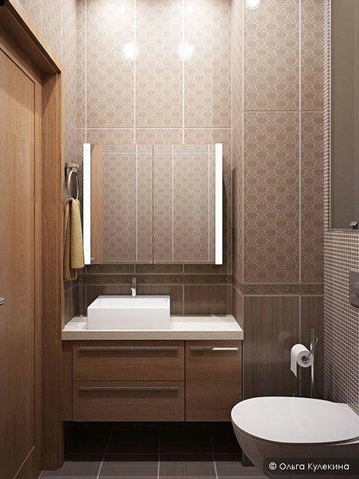 brown modern bathroom