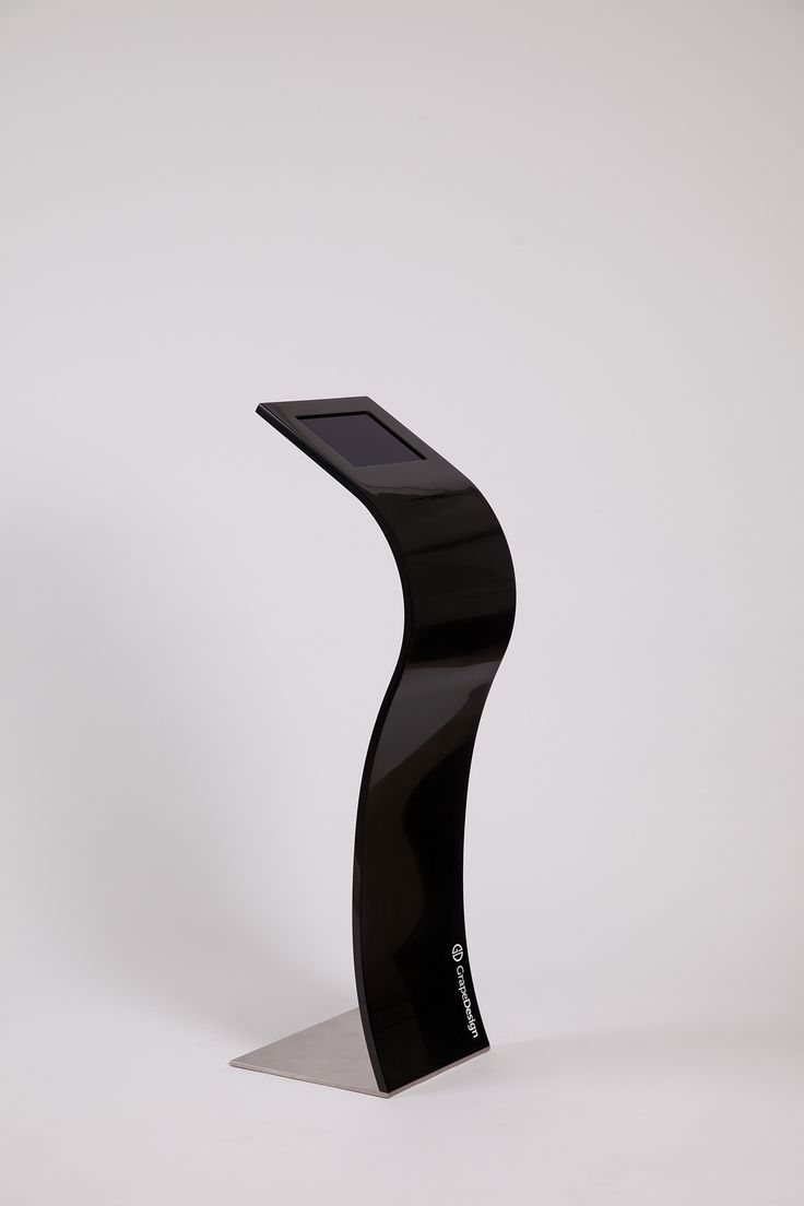 Impact iPad stand  iPad stander, Corian®, buede iPad standere, curved iPad stand