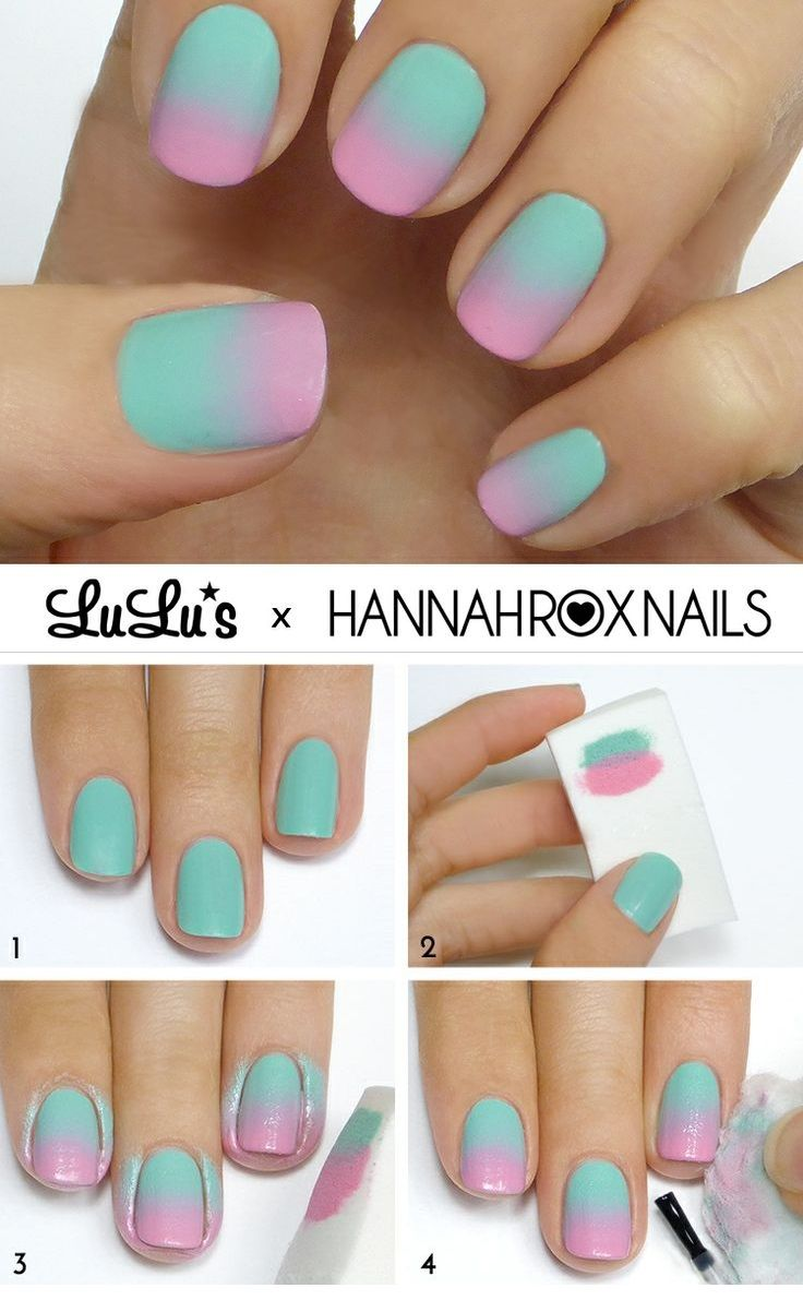 uñas en degrade tutorial