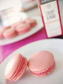 Yes these Cherry Macaroons was made with Balsamic vinegar.  YIAH Cherry Almond Balsamic was the star.