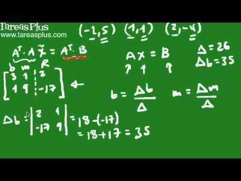 Regresión Lineal mediante matrices parte 2