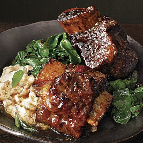 Spicy Slow-Cooked Short Ribs with Lime & Basil - FineCooking