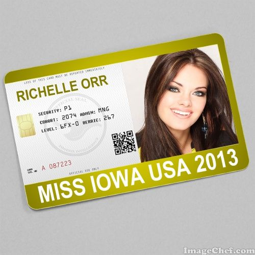 Richelle Orr Miss Iowa USA 2013 card