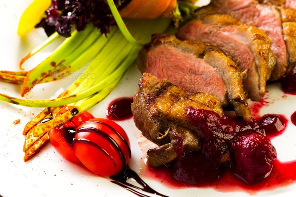 Duck baked with vegetables and herbs - Stock Photo - Images Download here : https://photodune.net/item/duck-baked-with-vegetables-and-herbs/20085756?s_rank=22&ref=Al-fatih