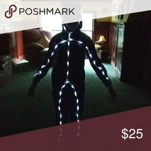 Stick Man Halloween Costume Stick Man LED Light Halloween Costume. Size 8-10. Costumes Halloween