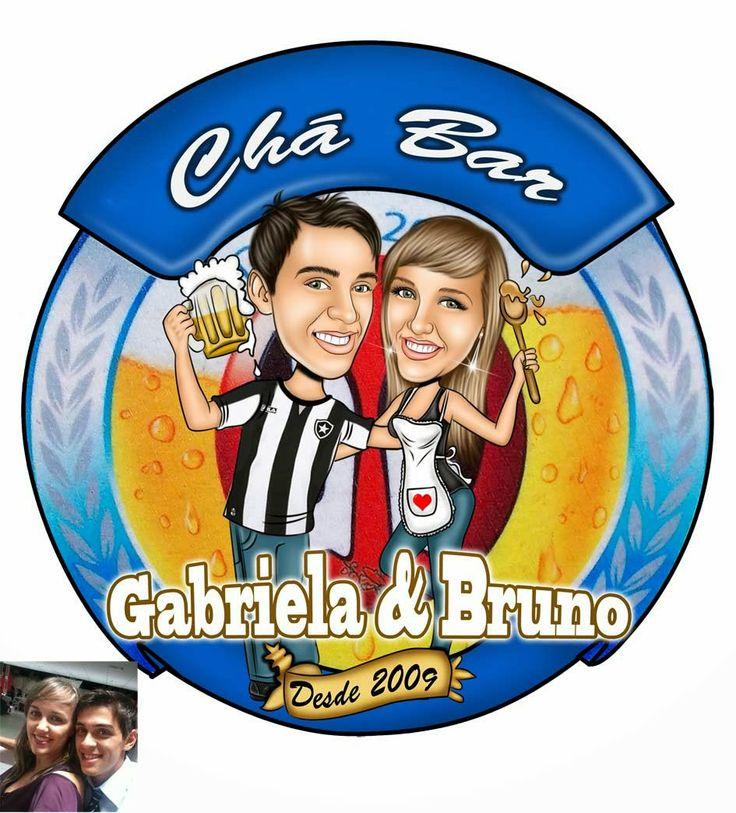 Caricatura de chá bar feito para Gabriela com o logo da Brahma !!! Ficou show de bola !!! Parabéns casal. Visite nosso site: www.ricksucaricaturas.com.br