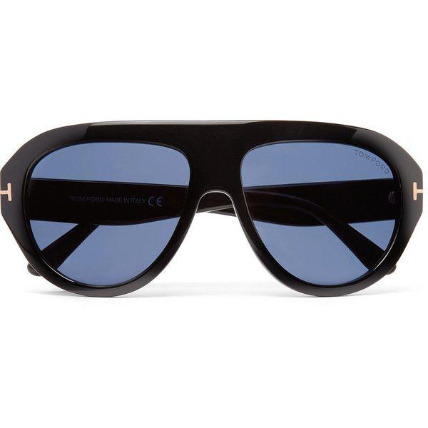 TOM FORD Felix Aviator-Style Acetate Sunglasses (25.655 RUB) ❤ liked on Polyvore featuring men's fashion, men's accessories, men's eyewear, men's sunglasses, tom ford mens sunglasses and mens aviator sunglasses