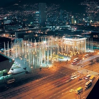 The park of light, in the middle of the city of Medellin, Colombia. BEAUTIFUL <3