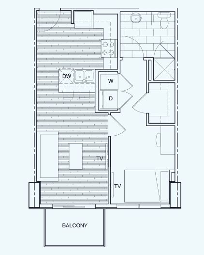 1 Bedroom/1 Bathroom - Floor Plan A