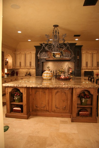 Old world Kitchen - mediterranean - kitchen cabinets - oklahoma city - Monticello Cabinets & Doors