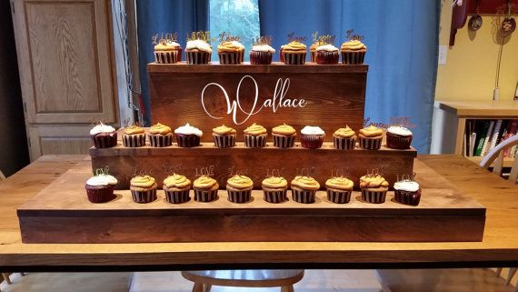 Rustic Cupcake Stand Rustic Wooden Cupcake by Primitiveweddings