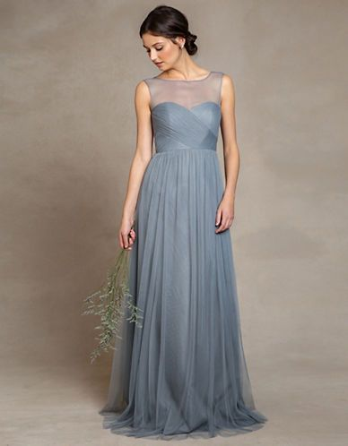 Brands | Bridesmaid Dresses | Aria Illusion Neck Gown | Hudson's Bay