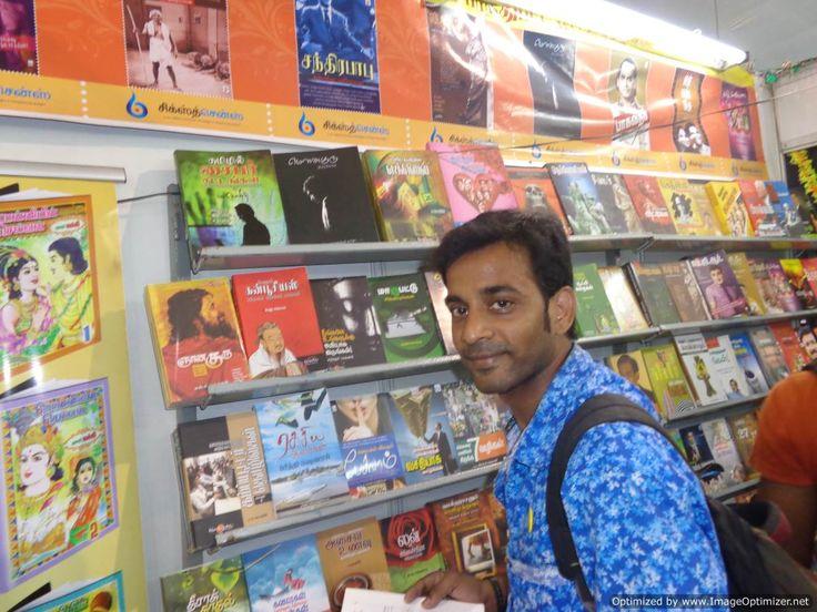 Blogger Thamizharasn at 38th Chennai Book fair