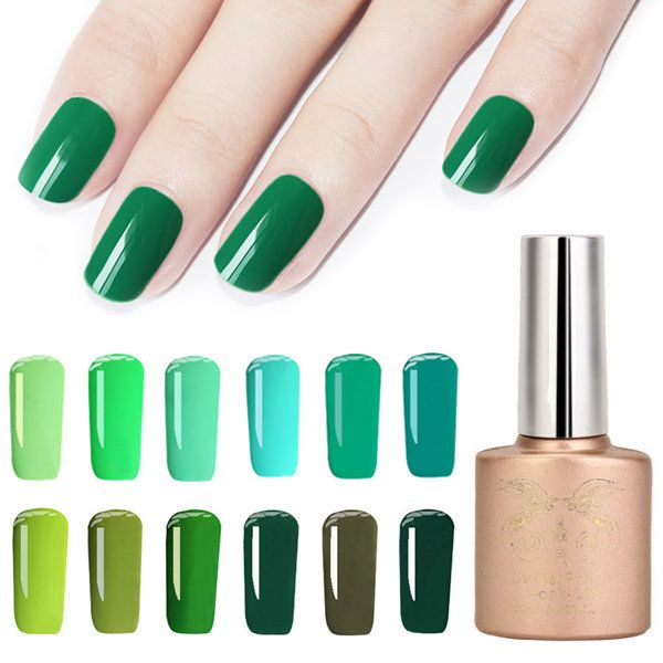 12 Colors Spring Gorgeous Green Series Nano Greenery Nail Art UV Gel Polish Soak-off 12ml at Banggood
