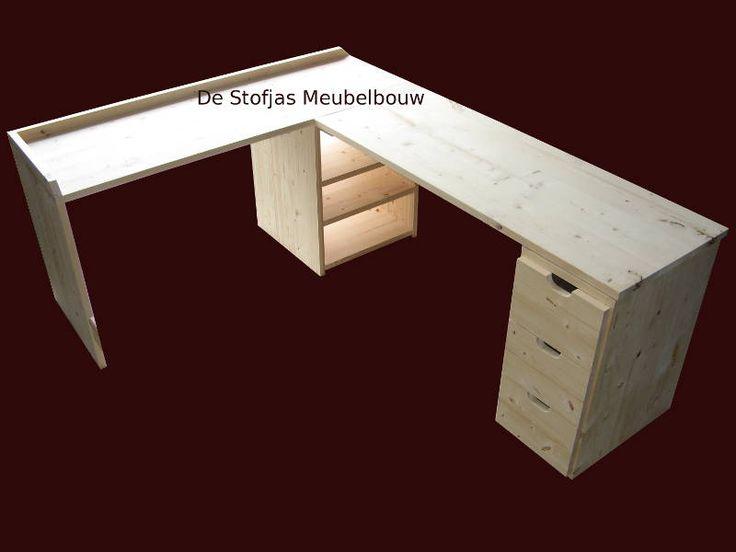 Meer dan 1000 idee n over hoekbureau op pinterest bureau for Ladenblok maken