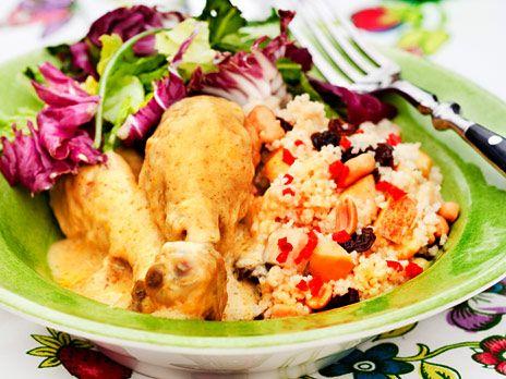 Kycklinggryta med äpple och curry | Recept.nu