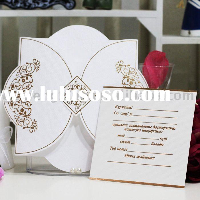how to write muslim wedding invitation card%0A unique wedding invitation card with outstanding outline and golden  attractive patternsW