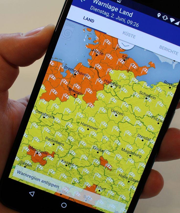 """""""WARNWETTER"""" BILD testet die erste Wetter-App des DWD"""