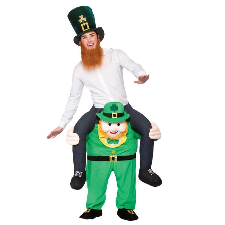 Adult Carry Me Leprechaun Costume. Adult Carry Me Leprechaun Costume includes fun plush leprechaun suit with false human legs!