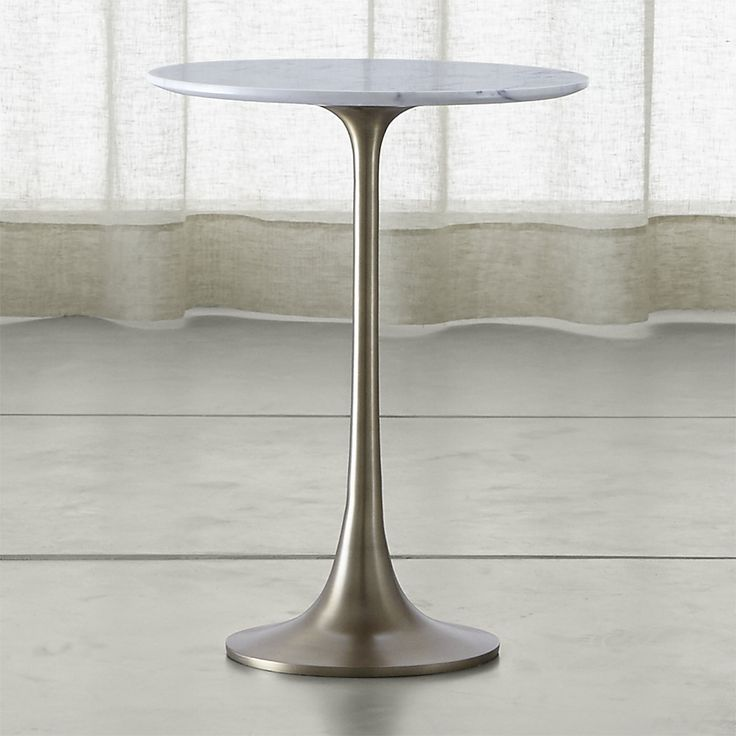 Shop Nero White Marble Accent Table.  The Nero White Accent Table is a Crate and Barrel exclusive.
