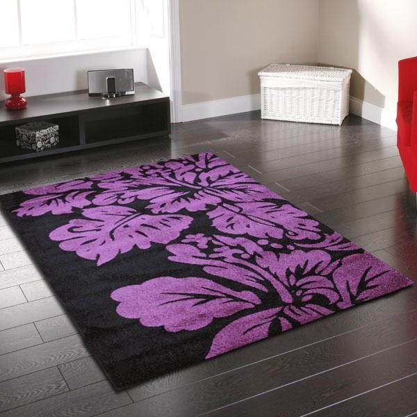 Purple Rug Australia: Uber Modern Damask Rug Purple 170X120cm Main Product Photo