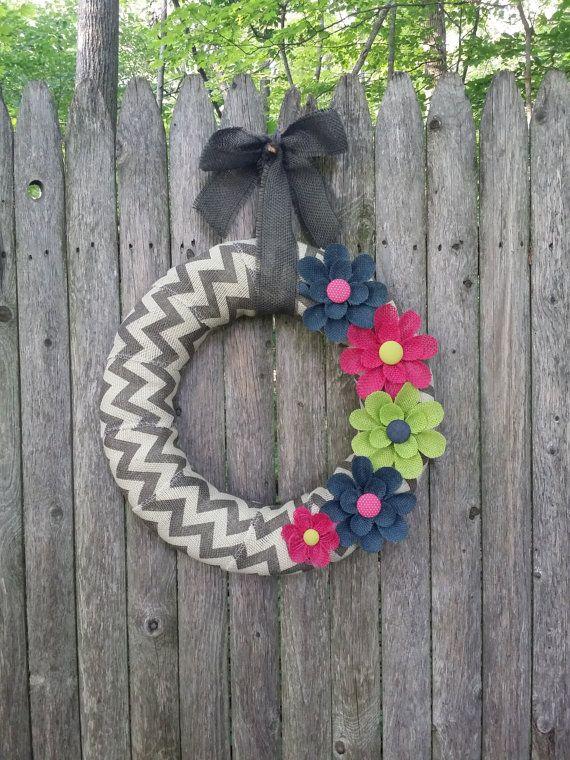 Year Round Burlap Wreath Summer Burlap Wreath by BurlapBlooms, $37.00
