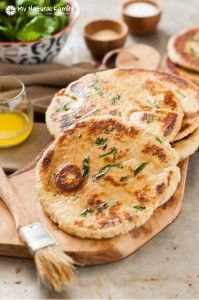 Clean Eating Quick Naan Bread Recipe - (made with einkorn, spelt, oat flour)