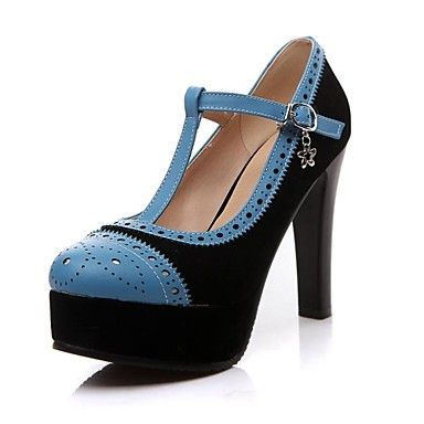 Women's Stiletto Heel Pointed Toe Pumps/Heels With Buckle  Shoes (More colors) – USD $ 34.99