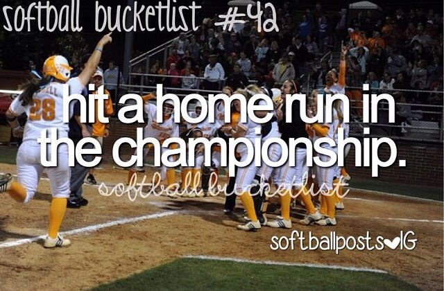 I've hit a 3 run homer and a grand slam out of the park in our school championship game