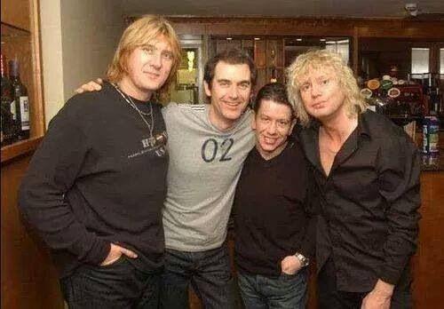 The original Leps: Joe Elliott, Tony Kenning, Pete Willis. & Rick Savage.