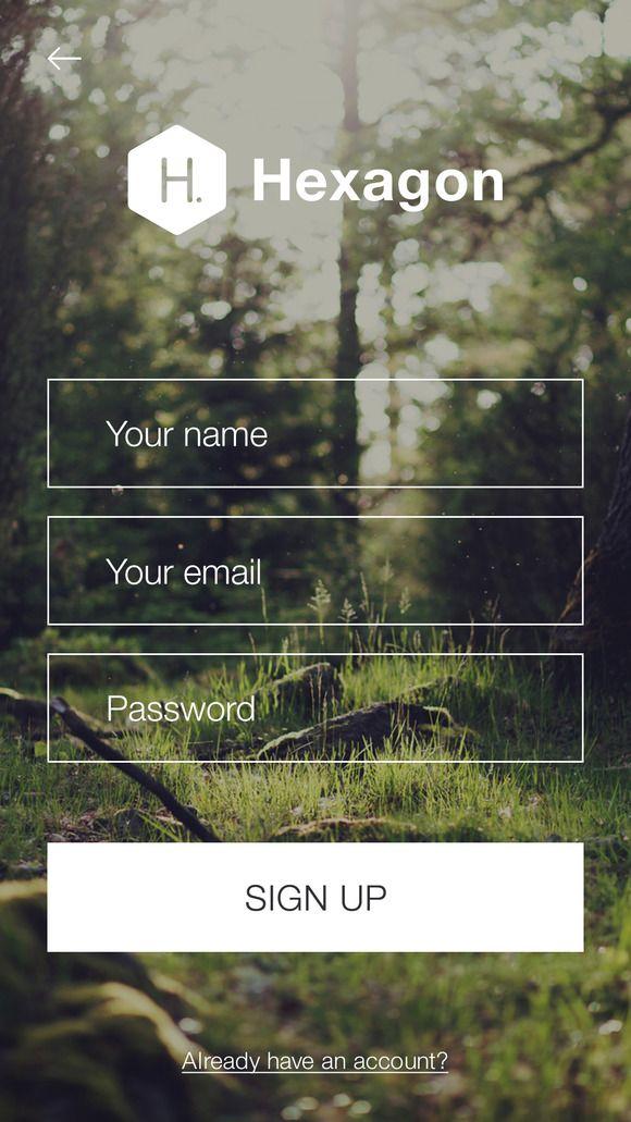 SignUp / Login - Mobile Form UI kit by Best UI on Creative Market